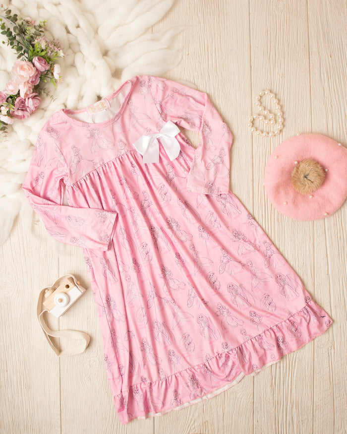 Girls Vintage Princess Night Gown