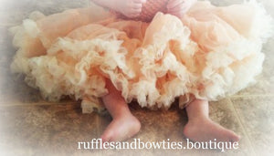 Soft Peach Petti Tutu Skirt Bloomers - Ruffles & Bowties Bowtique - 2