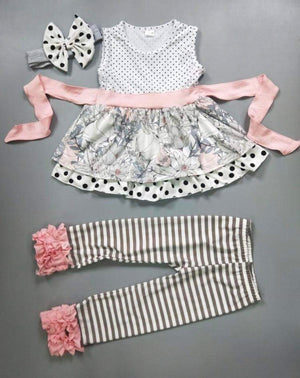 Girls Vintage Peach Two Piece Vintage Icing Outfit
