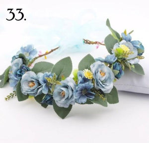 Floral Wreath - Blue Buds
