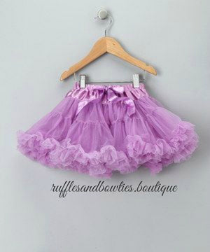 Soft Mauve Purple Tutu Pettie Skirt Bloomers - Pettie Coat - Birthday Outfit -  Birthday Outfit - Mermaid Birthday tutu - Ruffles & Bowties Bowtique - 1