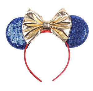 Yellow & Blue Princess Inspired Mouse Ears