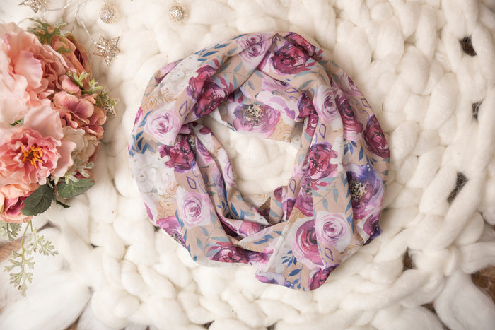 Mommy & Me Sophisticated Floral Scarf