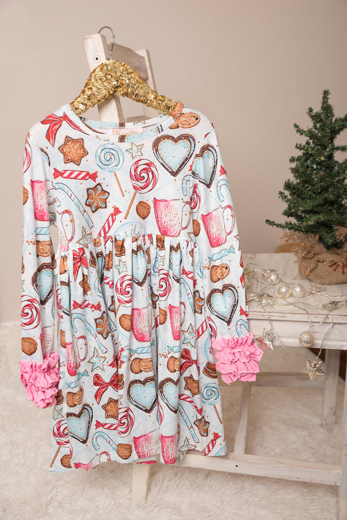 Sugar Cookie Long Ruffles Sleeve Tunic/Dress