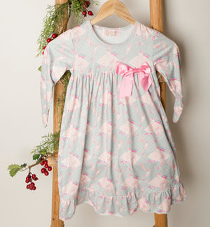 Girls Vintage Ballet Holiday Night Gown