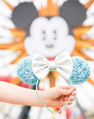 Disney Aqua Sequin Minnie Ears