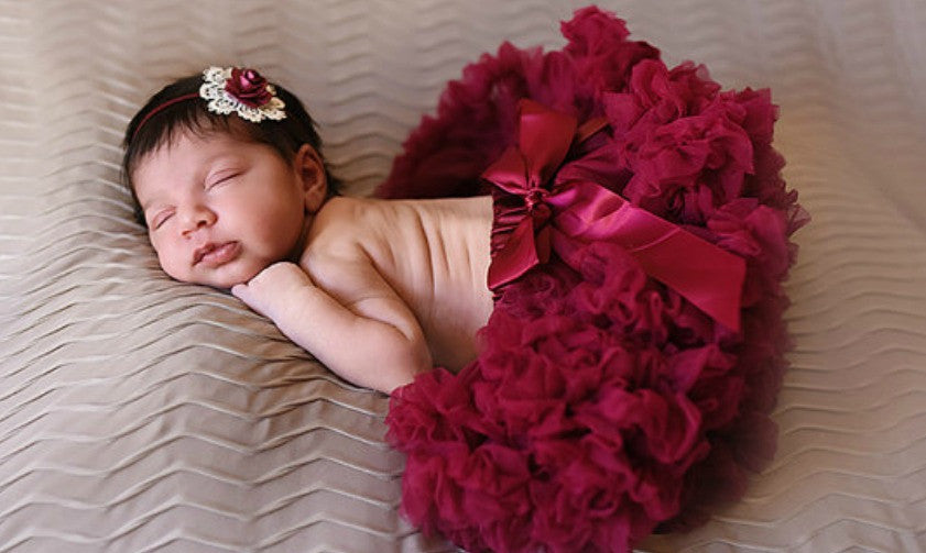 Soft Burgundy Tutu Pettie Skirt Bloomers - Pettie Coat - Birthday Outfit - Fall Birthday Outfit - Ruffles & Bowties Bowtique - 1