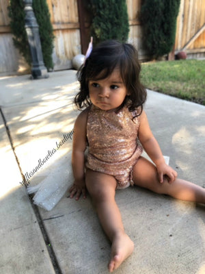 Melody Rose Gold Sparkle Romper