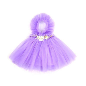 NEWEST EDITION-  Kryssi Kouture Girls Ruffled Tulle Purple Swan Dress