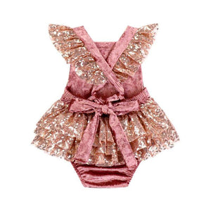 BEST SELLER - Primrose Rose Gold Sequin 2 Pc Birthday Set