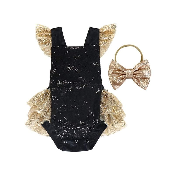 BEST SELLER - Primrose Noir Sequin 2 Pc Birthday Set