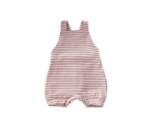 Pink Strippy Razer-Back Romper