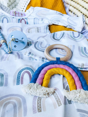 Over The Rainbow - Boys 6 Pc Newborn Hospital Baby Shower Set