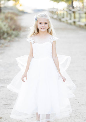 Kryssi Kouture Angelic Grace White Flower Girl Dress