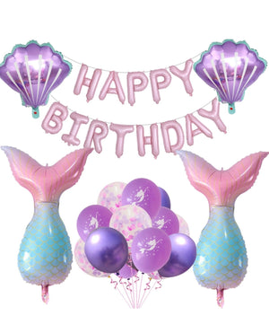 Kids Mermaid  Birthday Balloon set