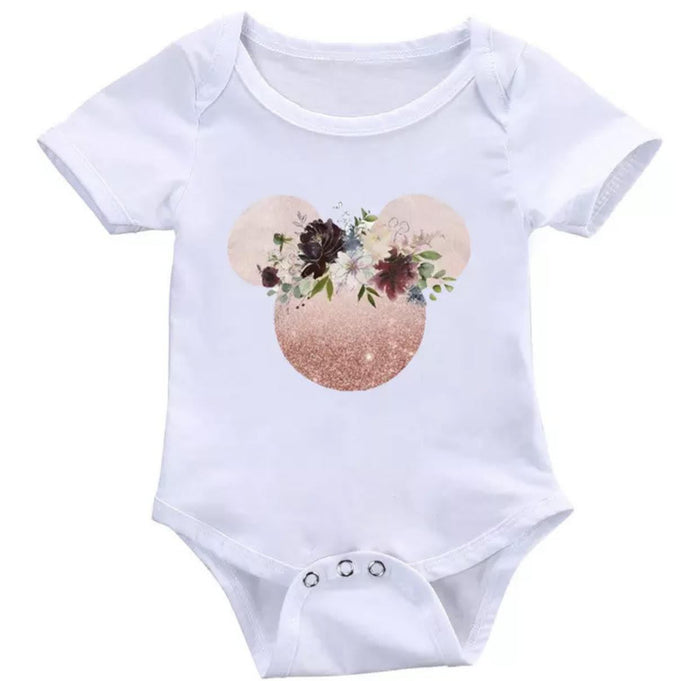 Floral Mouse Rose Onesie