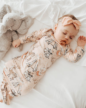 Peach Forest Friends Sleep Gown/Bag