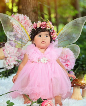 BEST SELLER -   Kryssi Kouture Girls Ruffled Tulle Pink Swan Dress