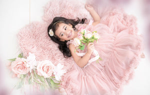 Spencer Dusty Rose Tulle Flower Girl Spin Twirl Dress - Ruffles & Bowties