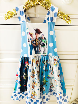 Toy Story Blue & White Spin Dress