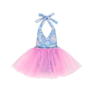 Kryssi Kouture Bubble Gum Blues First Birthday Tutu Romper
