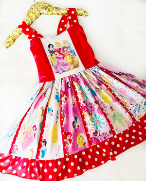 Red Princess Spin Dress