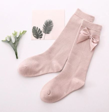 Dusty Rose Knee High Socks