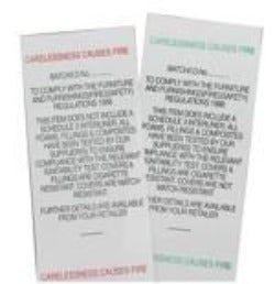 Fabric Labels All F/R (does NOT inc. Sch 3 Interliner) or (Inc. Schedule 3 Interliner)