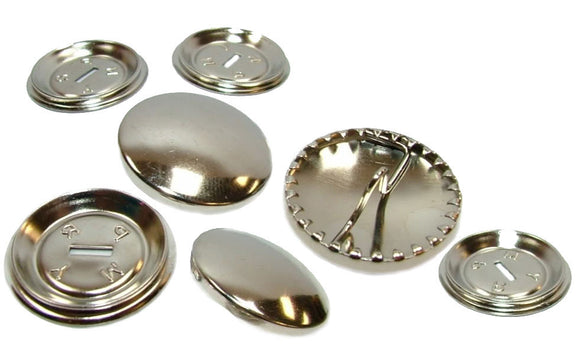 Easy Cover Buttons - Nickel on Brass
