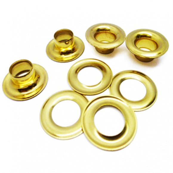 Solid Brass Sail Eyelets/Grommets
