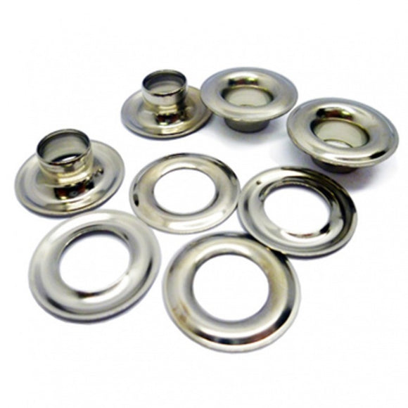 Nickel Plated Brass Sail Eyelets/Grommets