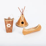 Birch Bark Ornament Trio