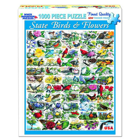 State Birds and Flowers 1000 Piece Puzzle