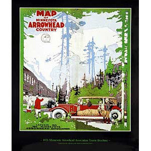 Map of MN Arrowhead Country Poster
