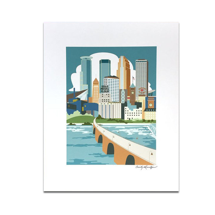 Minneapolis River View Print