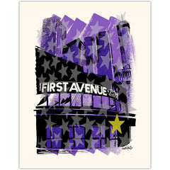 First Avenue Gold Star Art Print