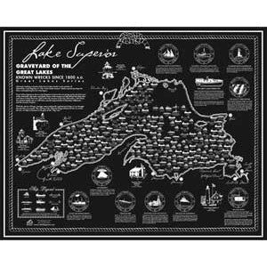 Lake Superior Shipwreck Map
