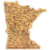 Minnesoa State Map Cutting Board