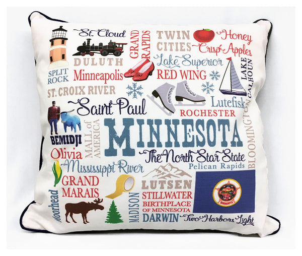 Minnesota North Star State Pillow