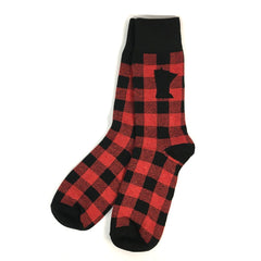 Minnesota Buffalo Plaid Socks