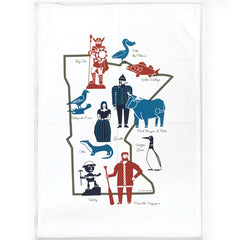 Minnesota Roadside Attractions Tea Towel