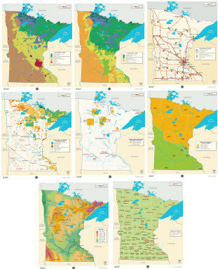 Minnesota Maps Poster Set