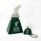 Oliver Kelley Farm Cowbell and Key Chain