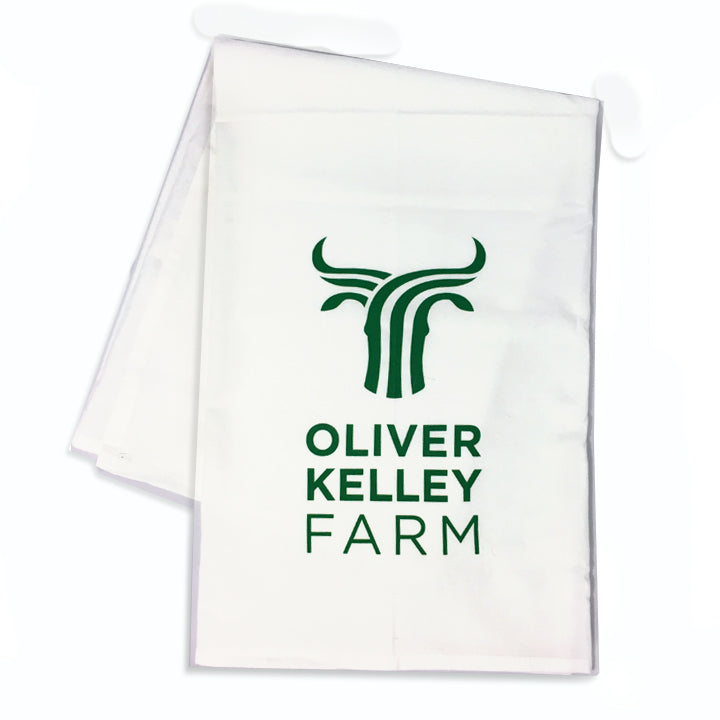 Oliver Kelley Farm Logo Flour Sack Towel