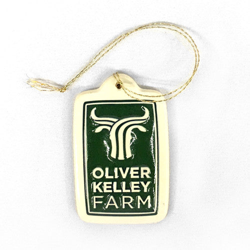Oliver Kelley Farm Stoneware Ornament