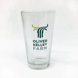Oliver Kelley Farm Logo Pint Glass