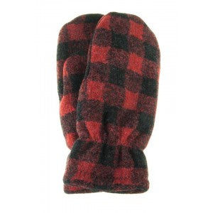 Buffalo Plaid Fleece Mittens