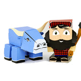 Cuble Paul Bunyan and Babe the Blue Ox Paperboard Folding Toy