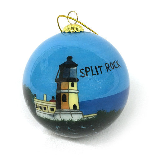Split Rock Lighthouse Hand-Painted Ornament