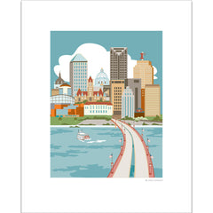 St. Paul River View Print
